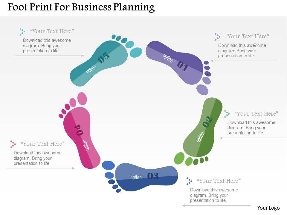 Skillfully Designed Management Presentation Showing Foot