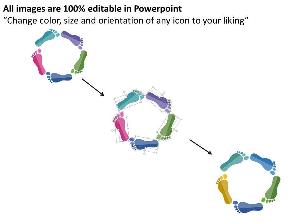 14423986 Style Circular Loop 5 Piece Powerpoint