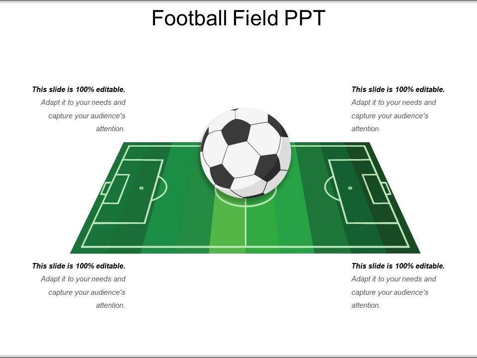 Football Field Ppt Powerpoint Design Template Sample