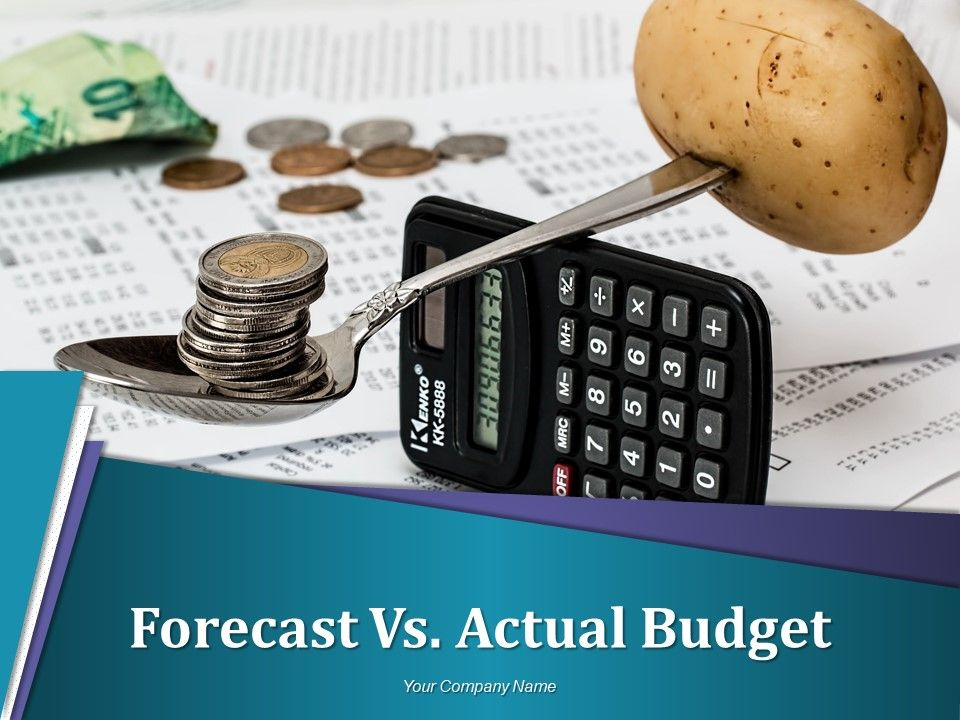 forecast vs actual budget powerpoint presentation slides budgeting
