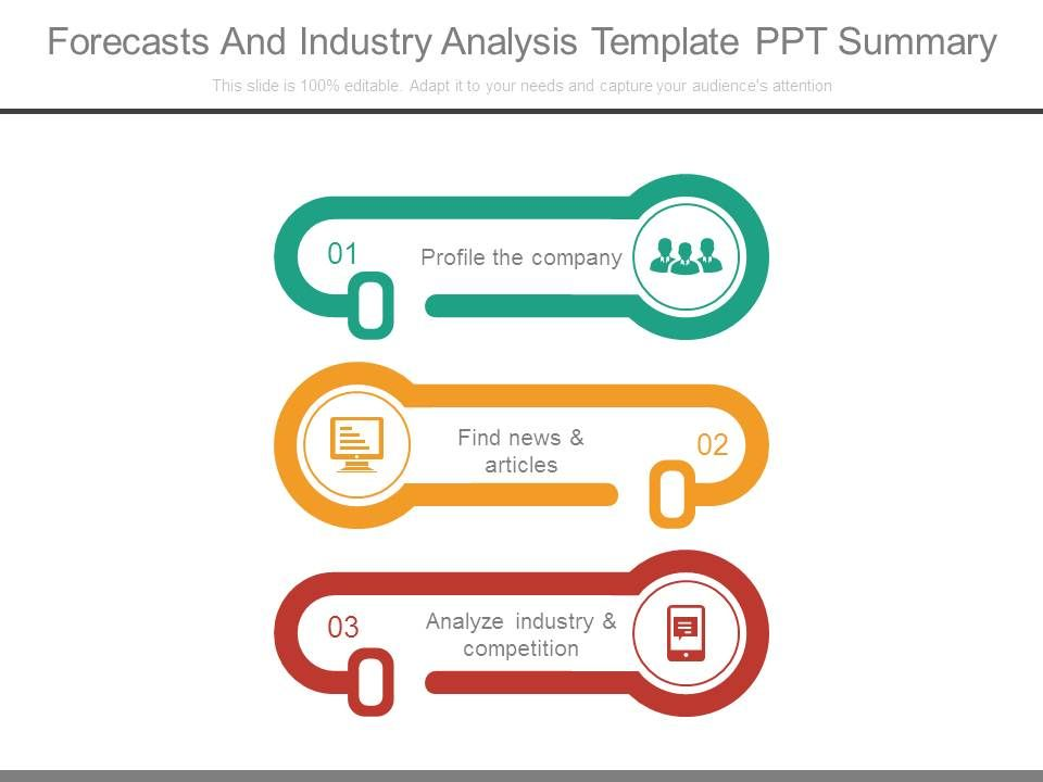 Forecasts And Industry Analysis Template Ppt Summary  Powerpoint