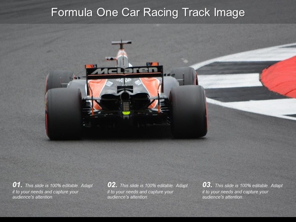 Formula One Car Racing Track Image | PowerPoint Design