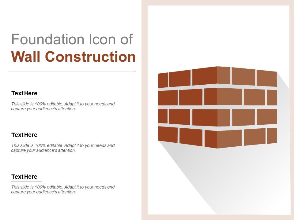 Foundation Icon Of Wall Construction