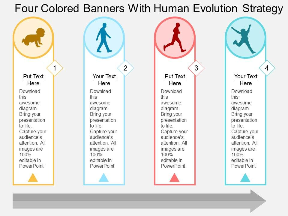History of human evolution graphic diagram flat powerpoint design four fandeluxe Gallery