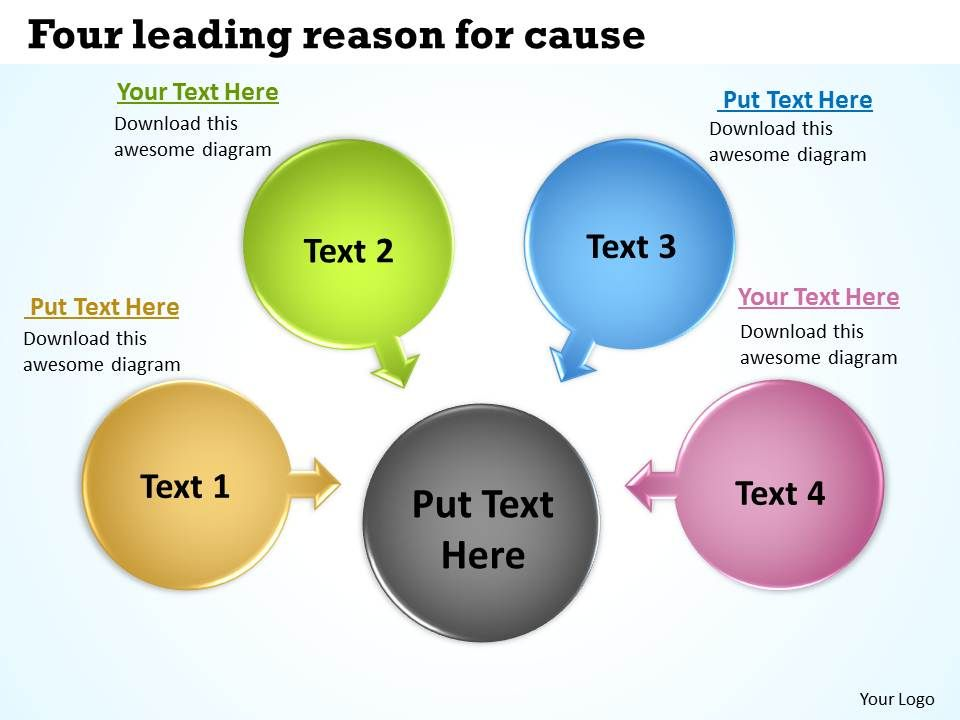four_leading_reason_for_cause_cycle_process_diagram_powerpoint_slides_Slide01