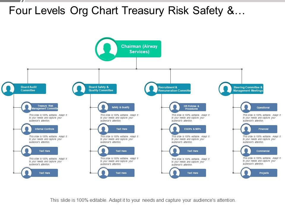 four_levels_org_chart_treasury_risk_safety_and_quality_for_airlines_Slide01