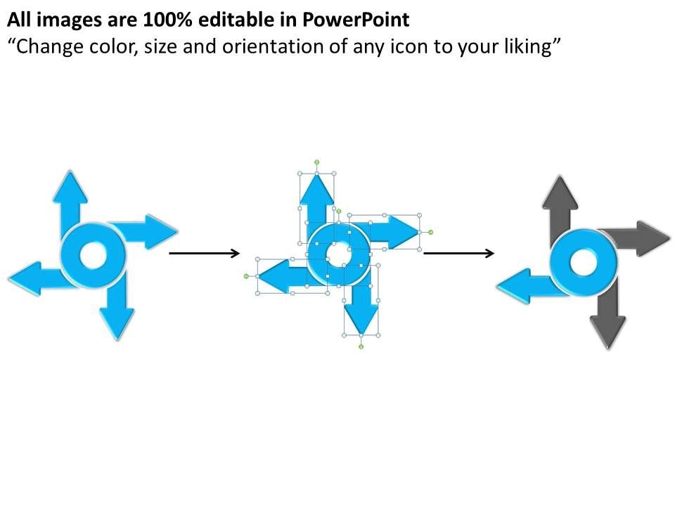 how to change arrow direction in powerpoint