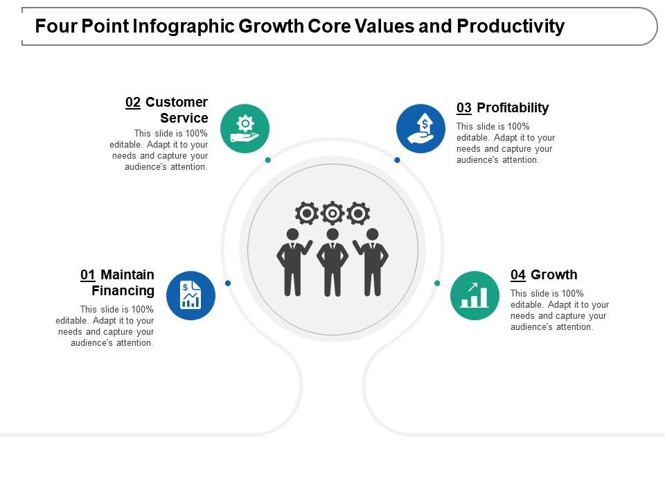 four_point_infographic_growth_core_values_and_productivity_Slide01