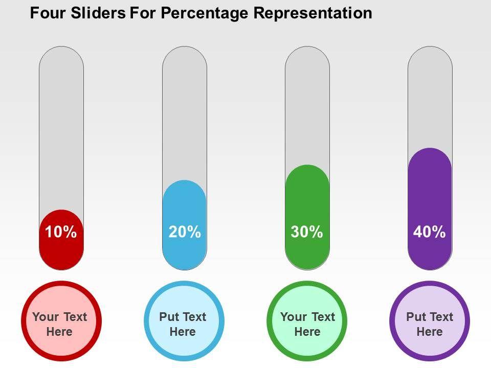four_sliders_for_percentage_representation_flat_powerpoint_design_Slide01