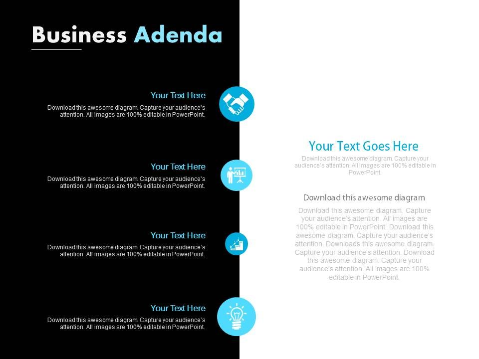 four_staged_business_agenda_icons_diagram_powerpoint_slides_Slide01