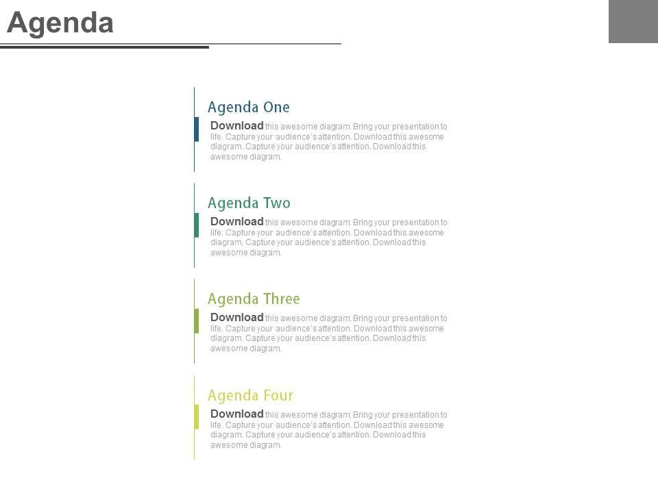 Four Staged Marketing Agenda Analysis Powerpoint Slides