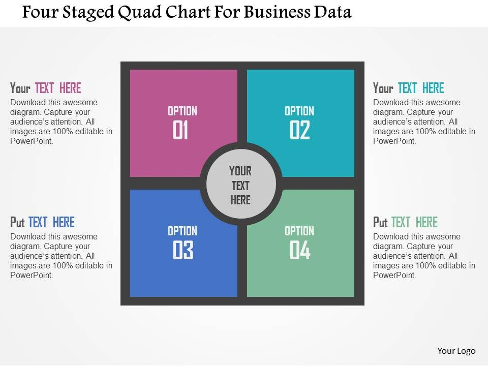 Four Staged Quad Chart For Business Data Flat Powerpoint ...