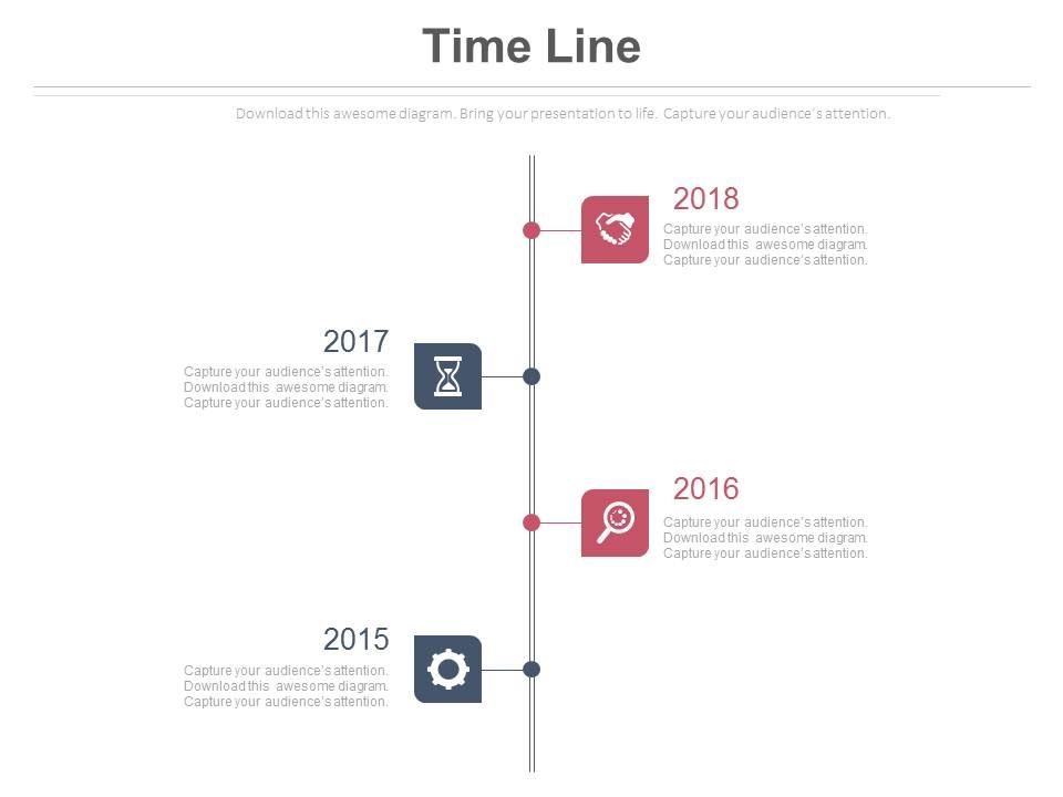 four_staged_vertical_timeline_for_sequential_years_powerpoint_slides_Slide01