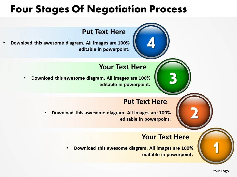 four_stages_of_negotiation_process_powerpoint_templates_ppt_presentation_slides_812_Slide01