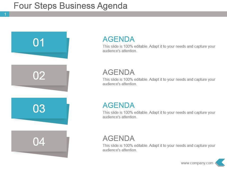 four steps business agenda powerpoint template slides powerpoint shapes powerpoint slide. Black Bedroom Furniture Sets. Home Design Ideas