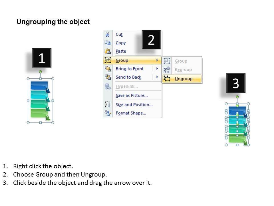 four steps sales process model flow chart template powerpoint slides ...
