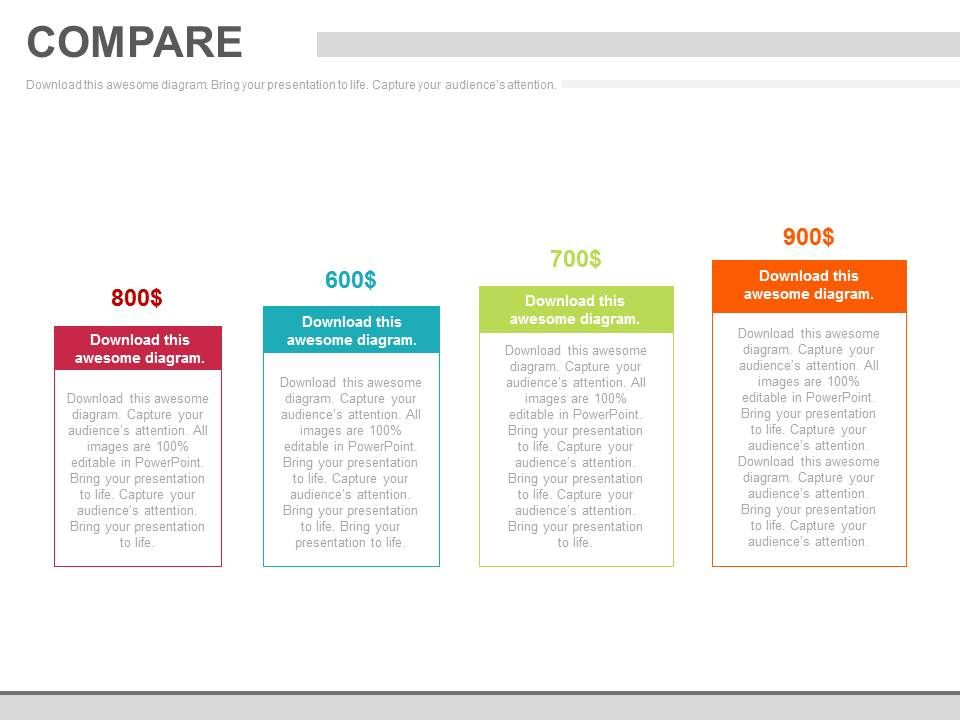 four_tags_for_comparison_analysis_chart_powerpoint_slides_Slide01