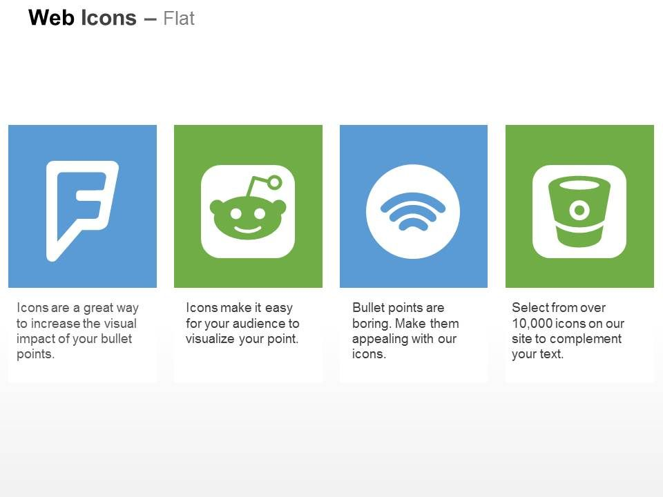 Foursquare Reddit Spotify Bitbucket Ppt Icons Graphics