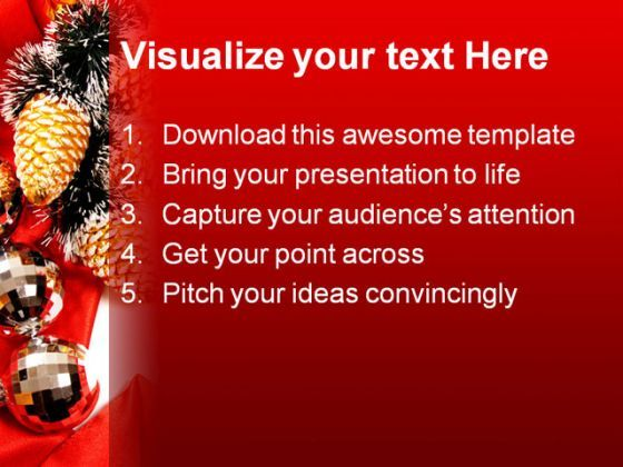 Frame Christmas Powerpoint Template   Presentation Powerpoint
