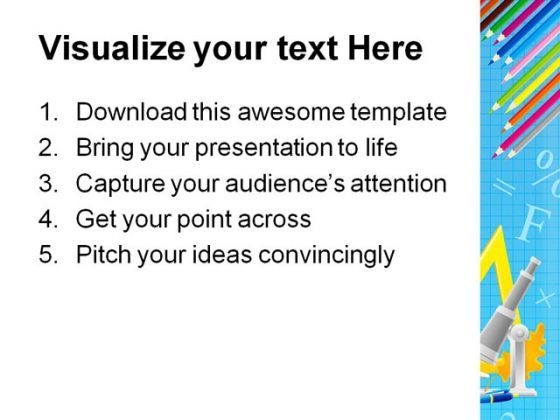 Frame Education PowerPoint Template 0610 | PPT Images Gallery ...