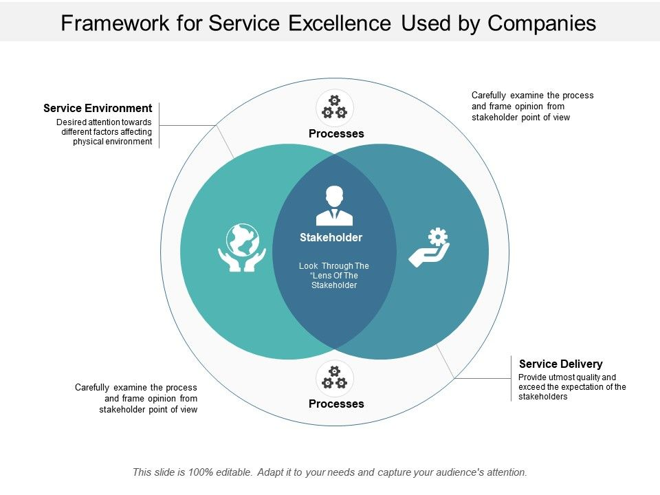 Framework For Service Excellence Used By Companies