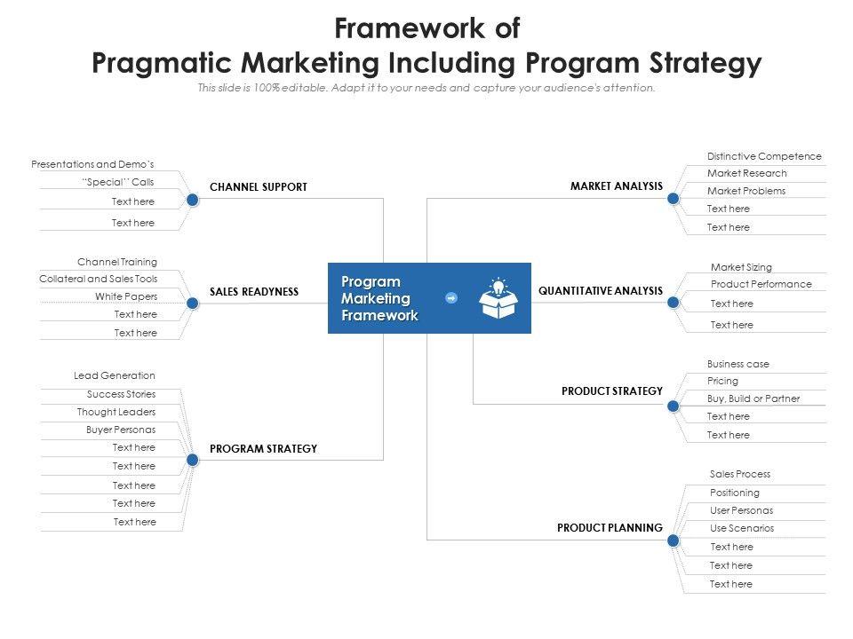 Framework Of Pragmatic Marketing Including Program Strategy