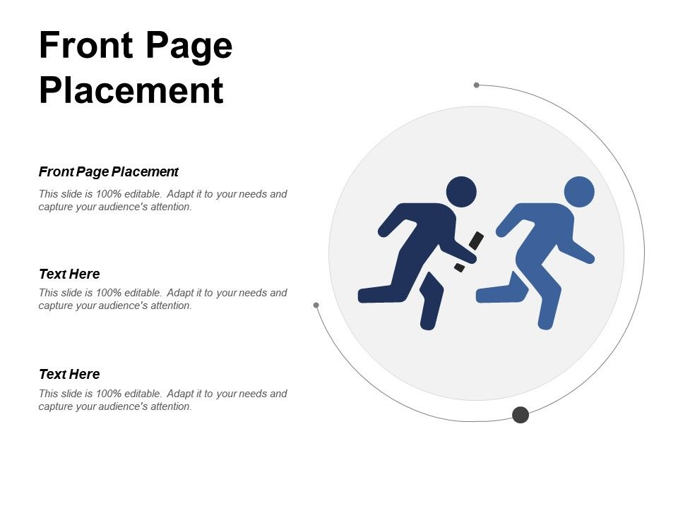 Front Page Placement Ppt Powerpoint Presentation File