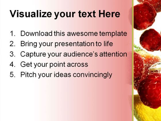 Fruits Refreshing Food Powerpoint Template 0810 | Powerpoint