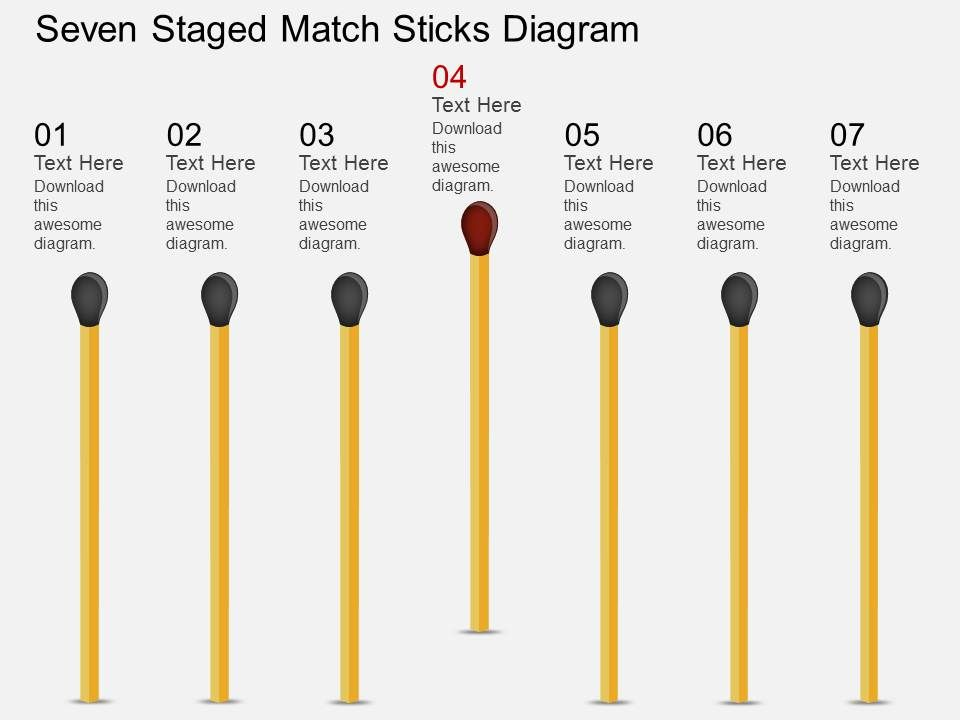 ft_seven_staged_match_sticks_diagram_powerpoint_template_Slide01