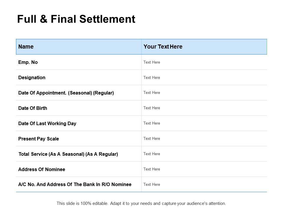 Full And Final Settlement Template from www.slideteam.net