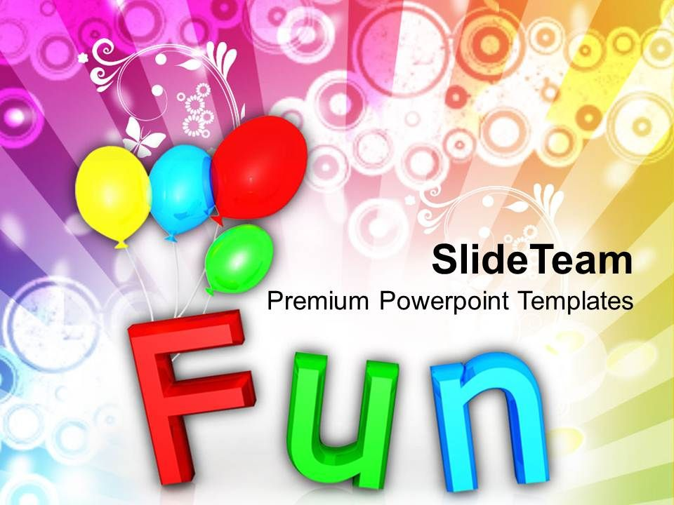 fun with colorful balloons holidays powerpoint templates ppt themes