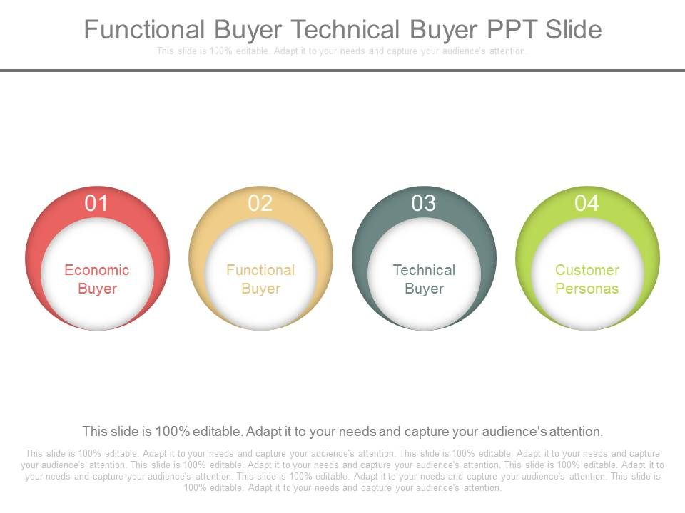 functional buyer technical buyer ppt slide | powerpoint slide, Presentation templates