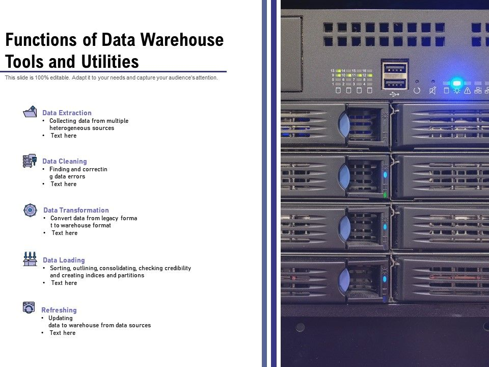 Functions Of Data Warehouse Tools And Utilities