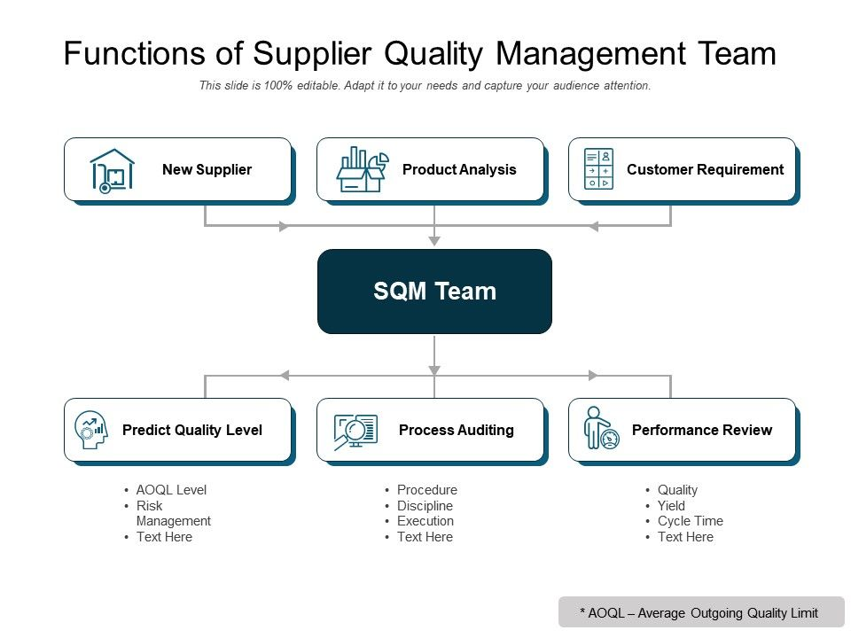 Functions Of Supplier Quality Management Team