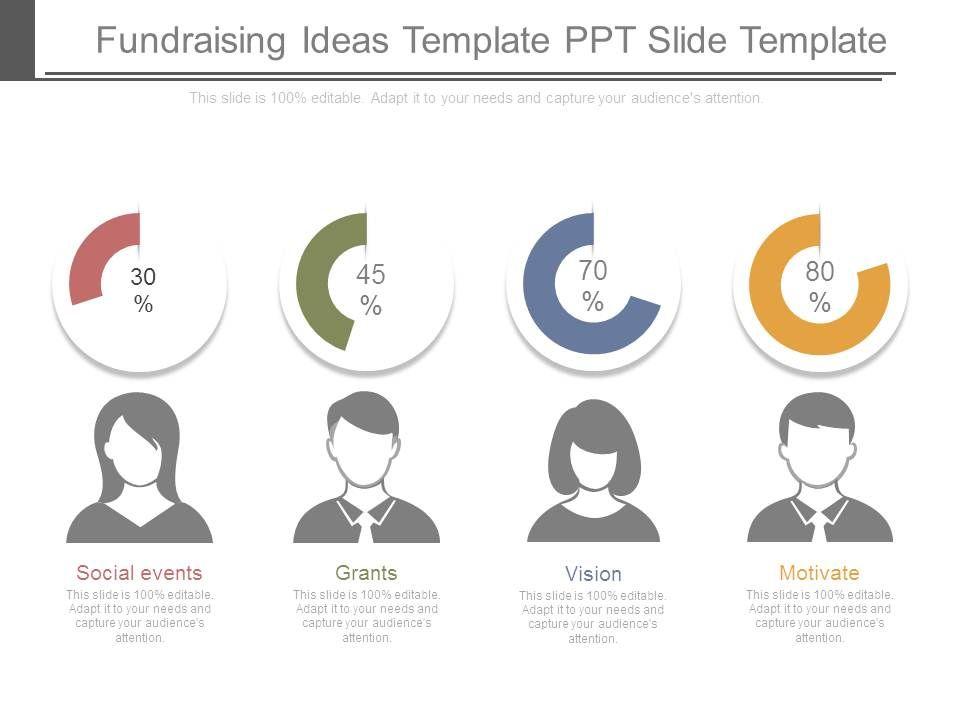 fundraising ideas template ppt slide template   templates, Modern powerpoint