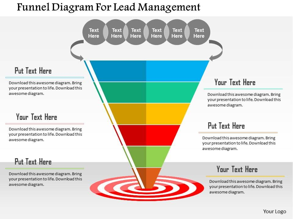 Funnel Diagram For Lead Management Flat Powerpoint Design ...