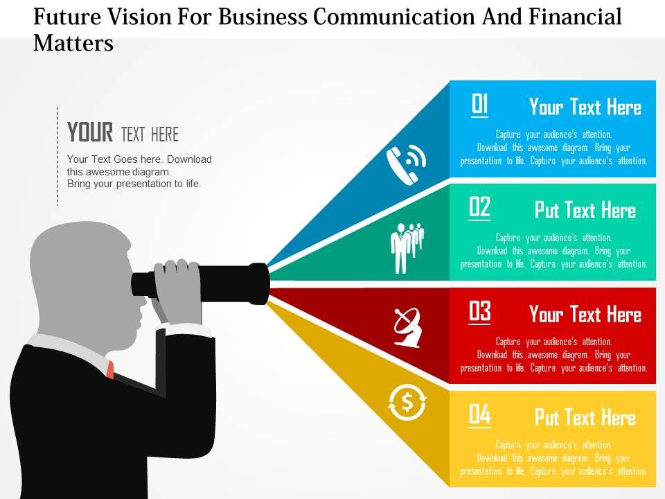 Professional Corporate Slides Showing Future Vision For