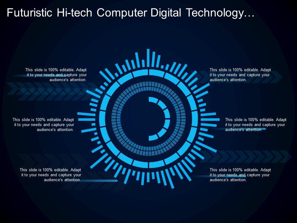 Futuristic Hi Tech Computer Digital Technology Concept Board Slide01 Slide02