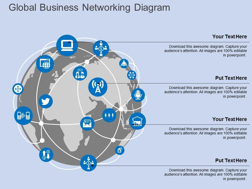 Ga global business networking diagram flat powerpoint design for Global design firm