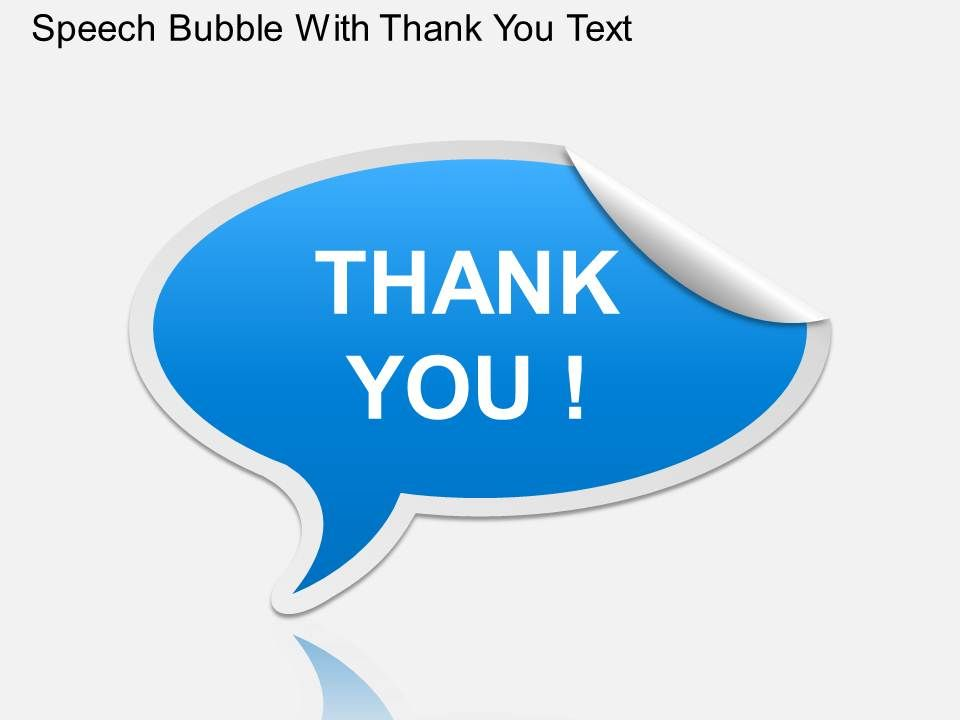 ga speech bubble with thank you text powerpoint template, Modern powerpoint