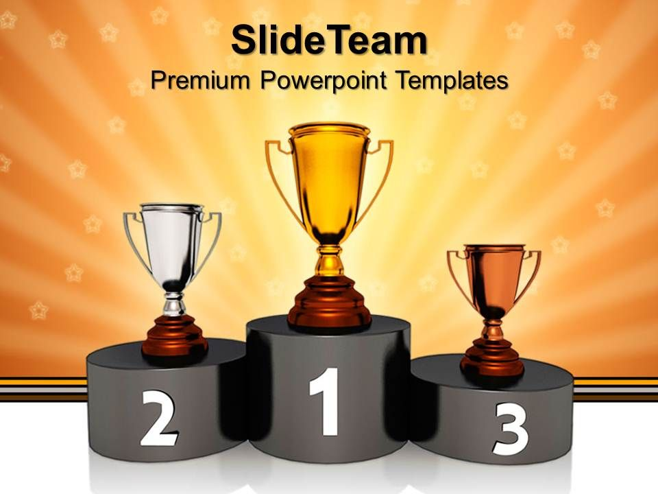 game_of_strategy_templates_podium_with_golden_trophy_winner_success_sales_ppt_slides_powerpoint_Slide01