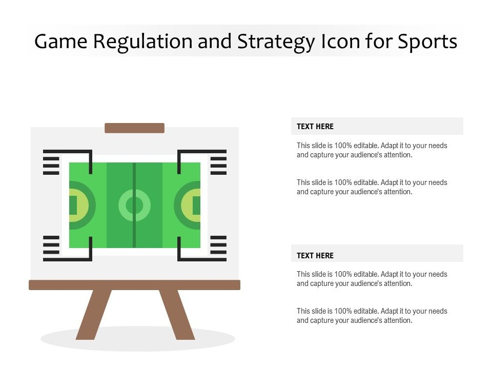 Game Regulation And Strategy Icon For Sports