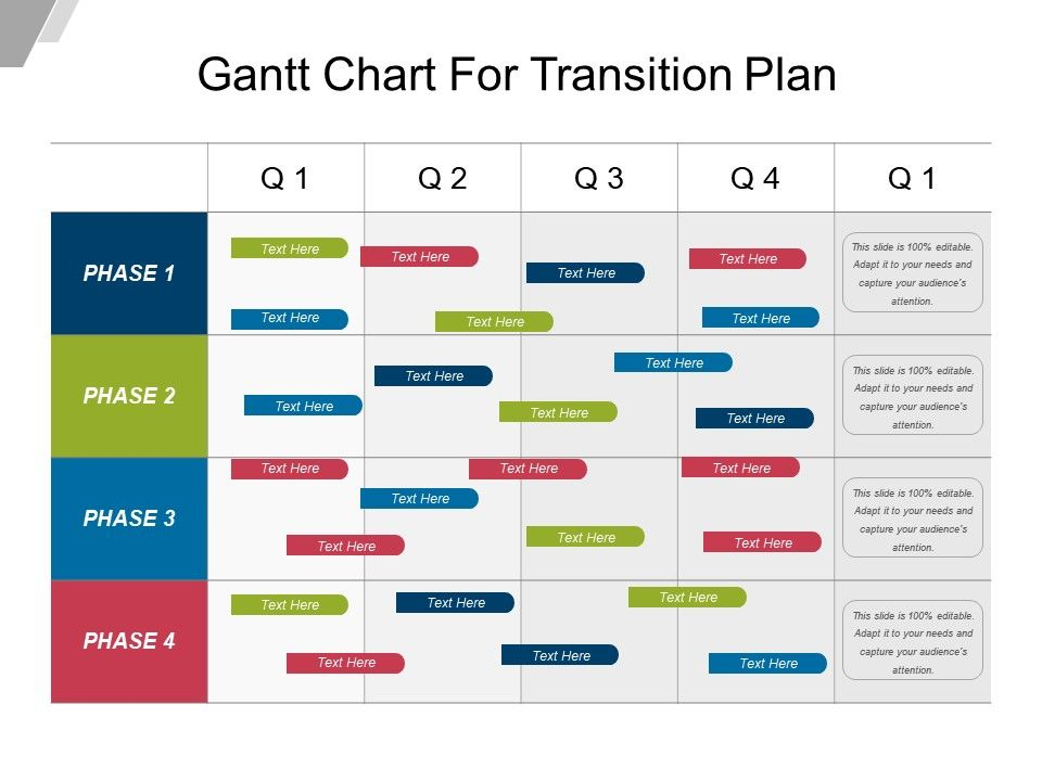 Gantt chart for transition plan example of ppt for Ceo transition plan template