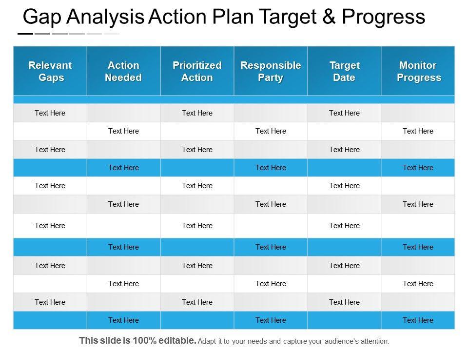 gap_analysis_action_plan_target_and_progress_powerpoint_guide_Slide01