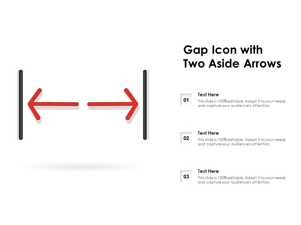 Gap Icon With Two Aside Arrows