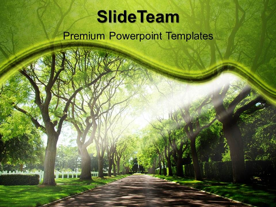 Garden Nature Powerpoint Templates Pathway Growth Ppt Slide