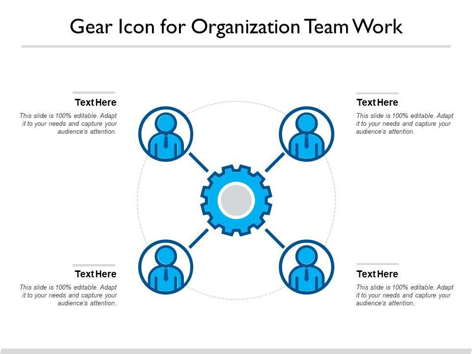 Gear Icon For Organization Team Work