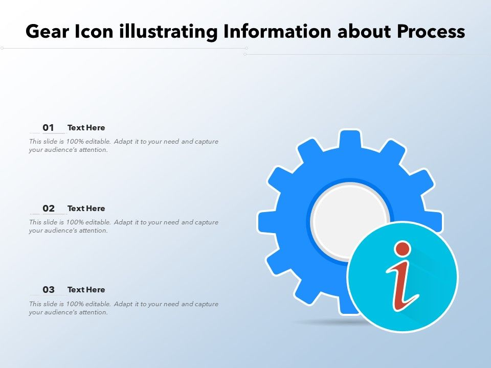Gear Icon Illustrating Information About Process
