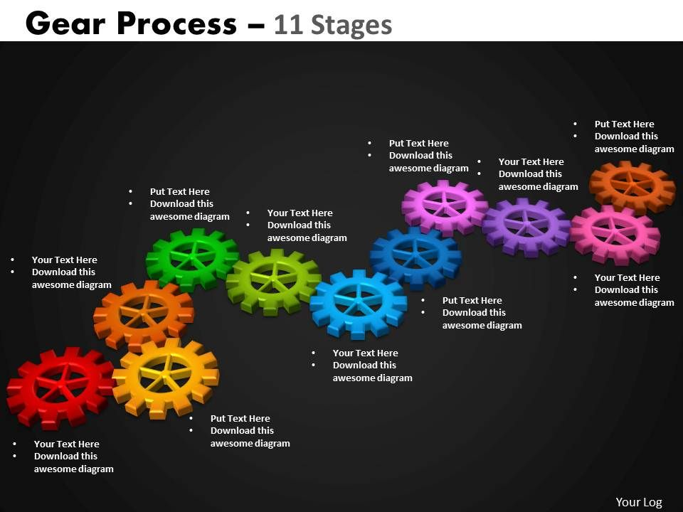 gears_process_11_stages_style_2_powerpoint_slides_and_ppt_Slide01