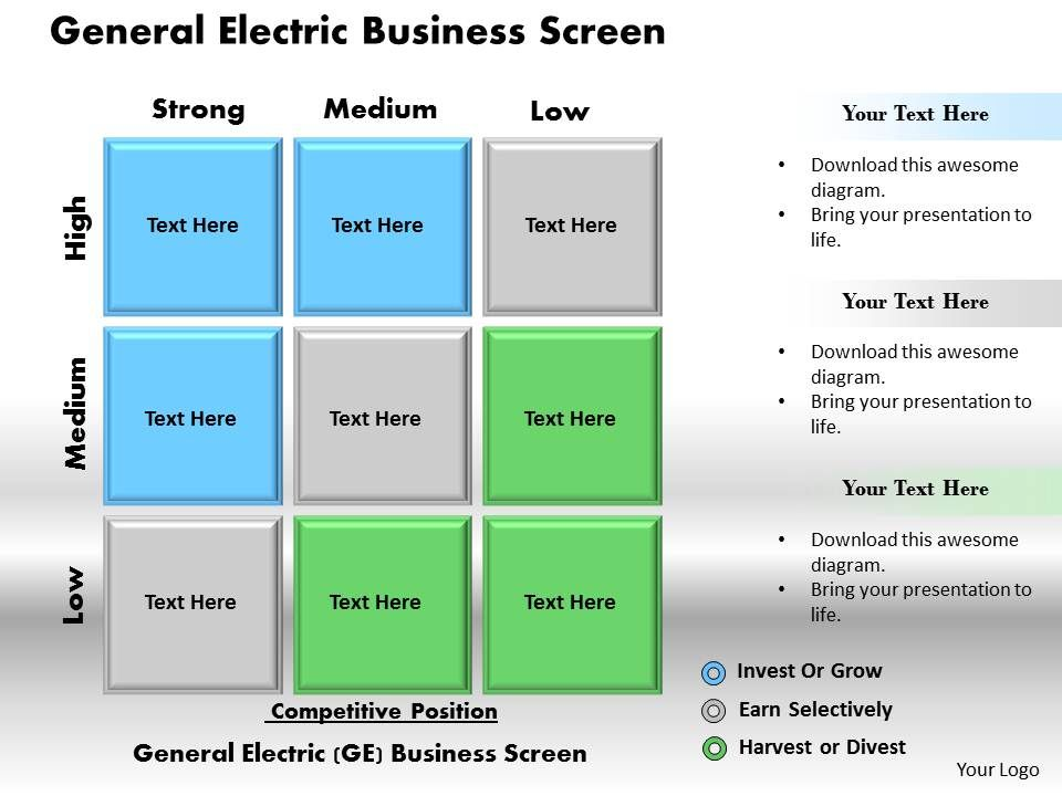 general electric business screen powerpoint presentation slide, Templates